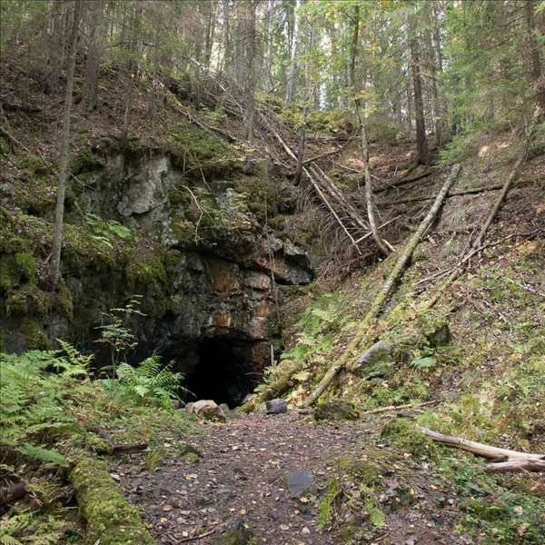 Ingången till gruvan