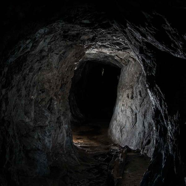 Inuti gruvan